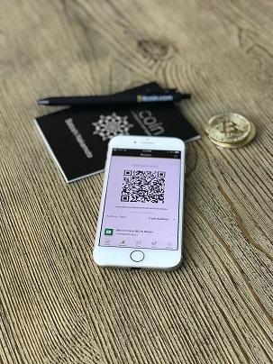 skicka bitcoin med wallet i telefonen